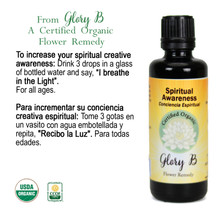 SPIRITUAL AWARENESS Organic Flower Essence
