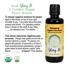 RELEASING NEGATIVE REACTIONS Organic Flower Essence