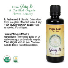 PEACE AND JOY Organic Flower Essence
