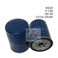 WZ24 OIL FILTER (replaces Ryco Z24)