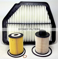 HOLDEN CAPTIVA CG 2.0L TURBO DIESEL AIR OIL FUEL FILTER KIT