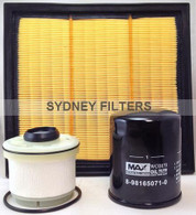 ISUZU D-MAX & MU-X AIR OIL FUEL FILTER KIT 07/2012-ON