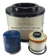 TOYOTA HILUX 3.0L TURBO DIESEL AIR OIL FUEL FILTER KIT27 SYDNEY FILTERS