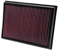 K&N 33-2438 HIGH FLOW AIR FILTER - TOYOTA FJ CRUISER & PRADO (WA5195 Interchangeable with 17801-38050, A1812)