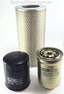 AIR OIL FUEL FILTER KIT TOYOTA HIACE