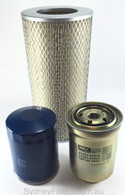 KIT125 AIR OIL FUEL FILTER SYDNEY FILTERS TOYOTA HIACE TURBO DIESEL