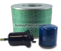 LANDCRUISER FILTER KIT 70 SERIES AIR OIL FUEL FILTER KIT Z624