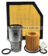 TOYOTA RAV 4 2.2L TURBO DIESEL AIR OIL FUEL FILTER KIT