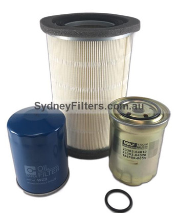 MAZDA B2500 FORD COURIER AIR OIL FUEL FITLER KIT ROUND AIR FILTER