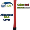Tour Sticks® Alignment Stick Head Cover - Red (Leather)