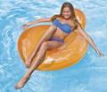 Intex Pillow Back Swimming Pool Chair Lounger in Orange