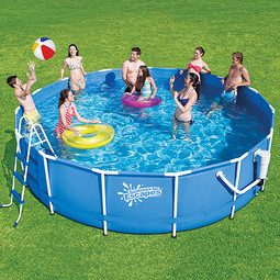 15ft summer escapes metal frame above ground 8 person for 20 ft garden pool