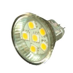 mr11 6led smd led lamp glass covered