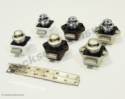 Mini Push Button Door Handle Knob and Catch Pack of 5 Caravan