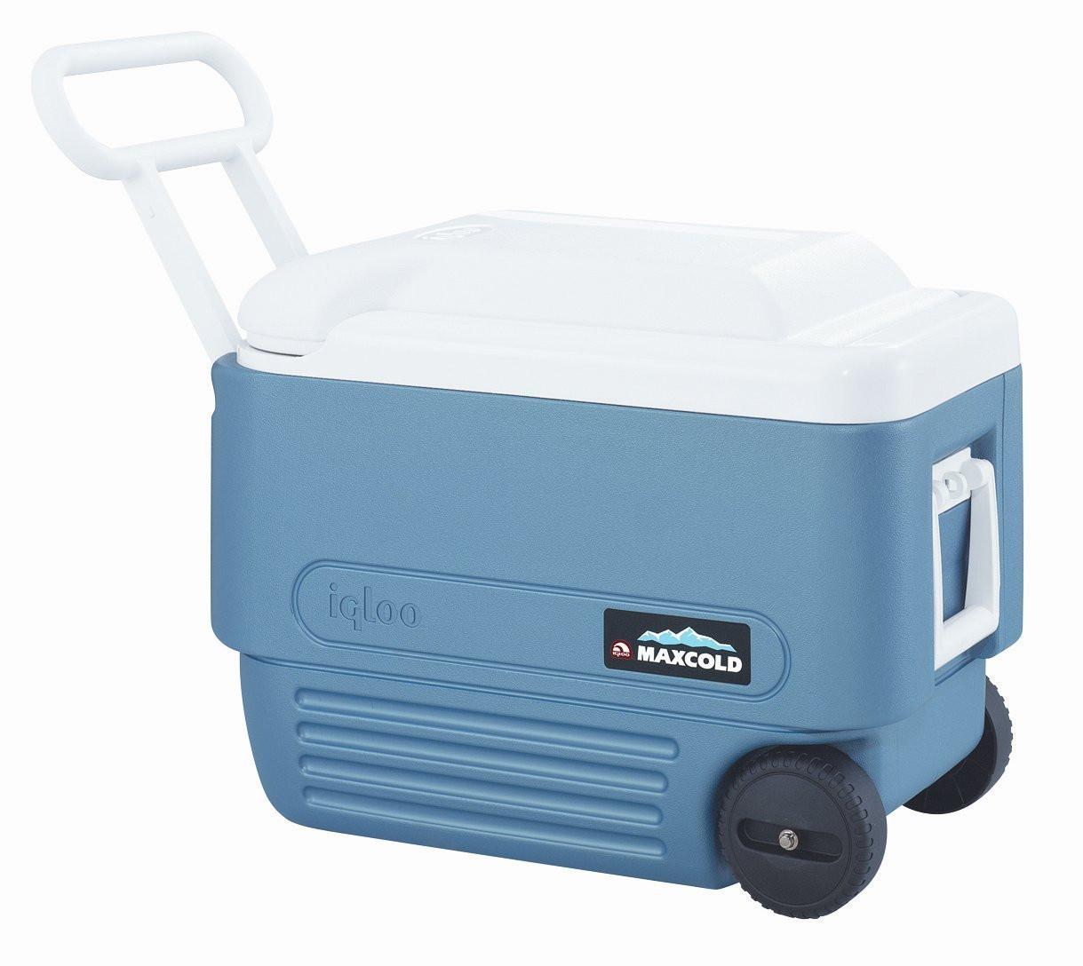 Ice Box Cooler : Igloo max cold l quart wheeled cool box roller