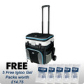 Igloo 36 Can Cool Fusion MaxCold Black Soft Roller Cooler (58991)