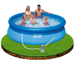 intex 10 x 30 easy set above ground pool with filter pump 28122