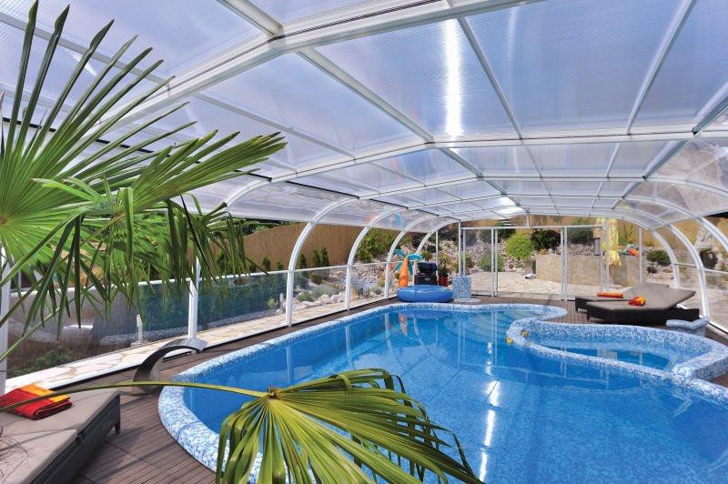 Galaxy luxury domestic fixed swimming pool enclosure - Domestic swimming pools ...