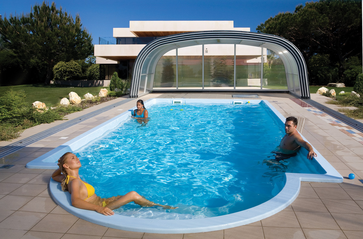 Harmonie tall cross sectioned retractable telescopic swimming pool enclosure for The heights swimming pool timetable