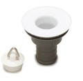 "3/4"" white plastic caravan top sink straight waste water siphon"