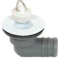 """3/4"""" white plastic caravan top sink waste siphon (R/Angled)"""