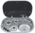 Smev MO8323 caravan and motorhome sink combi 3 burner hob unit