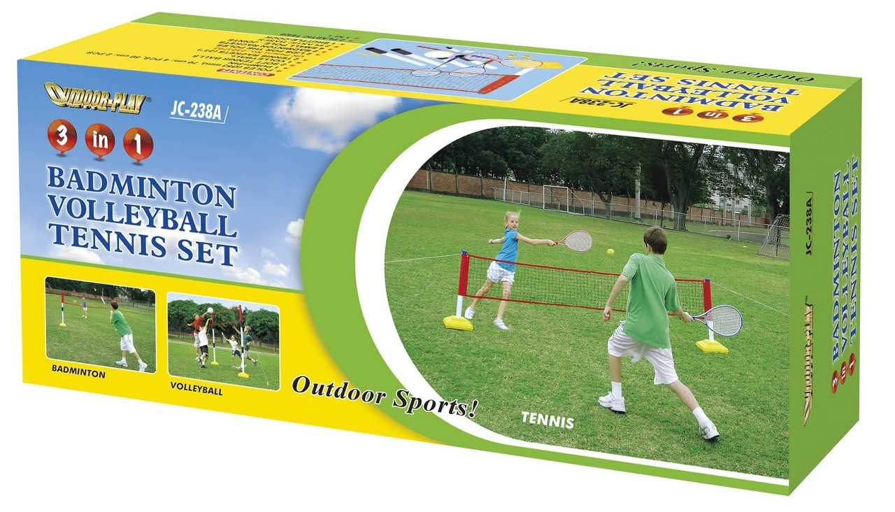 Kids Outdoor Playing Mini Shuttle Ball Badminton Game Set of 3