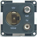 CBE 12V Auto Electrical Satellite & TV Socket