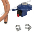 Butane Gas Clip On Regulator hose & Clips