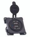 Twin USB Caravan Motorhome 12v   Socket – 5 Volt 1 Amp & 2.1 Amp