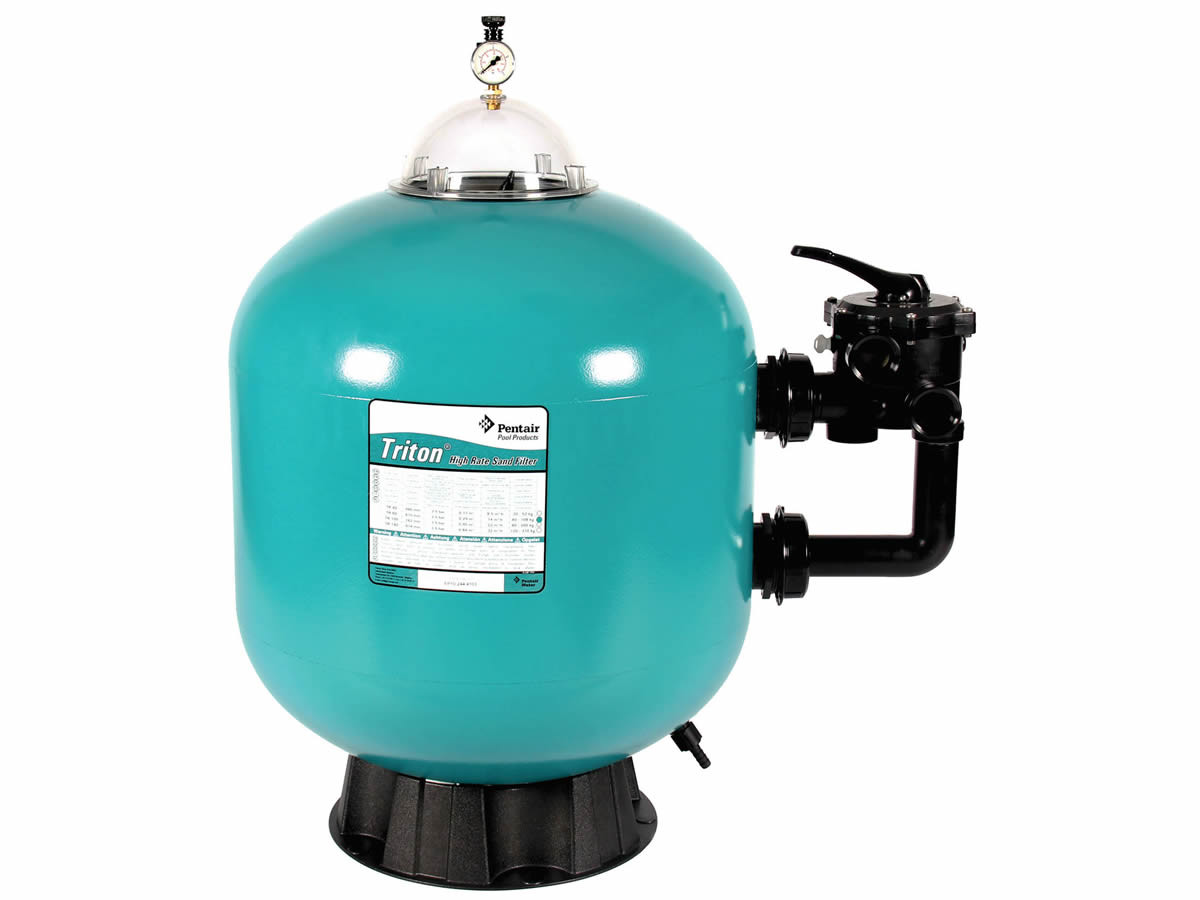 Pentair triton sand filter for inground and above ground for Obi filtersand pool