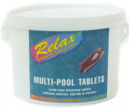 Relax multi function swimming pool chlorine tablets - Chlorine calculator for swimming pools ...