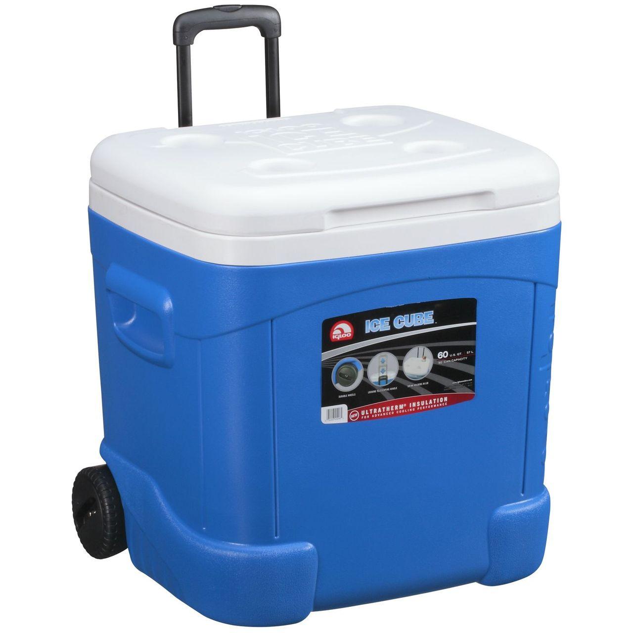 Ice Box Cooler : Igloo ice cube qt l wheeled cool box mobile