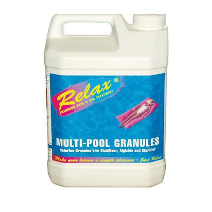 5kg Multi Functional 3 In 1 Swimming Pool Chlorine Algaecide Clarifier Granules