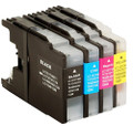 Brother LC1280 multipack black cyan magenta and yellow printer ink cartridges