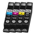 Canon CLI 526 multipack printer ink cartridges black cyan maganta & yellow