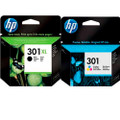HP 301XL black genuine original inkjet plus HP 301 colour ink cartridge