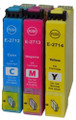 Compatible with Epson 27XL cyan, magenta & yellow ink cartridges. High capacity