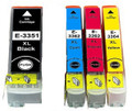 Compatible 33XL black, cyan, magenta & yellow Epson printer ink cartridges