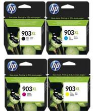 Genuine 4 Colour HP 903 903XL Ink Cartridge Multipack - (T6M15AE/T6M03AE/T6M07AE/T6M11AE)