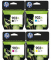Genuine 4 Colour HP 903 903XL Ink Cartridge Multipack - (T6M15AE/T6M03AE/T6M07AE/T6M11AE)