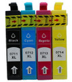 Epson T0715 multipack compatible printer ink cartridges T0711 T0712 T0713 T0715
