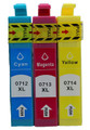Epson T0712, T0713, T0714 ink cartridges, Epson Cheetah inks