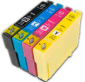 Epson T1285 BCMY ink cartridges replaces Fox inks