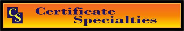 Certificate Specialties