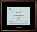 Cisco® Certificate Frame Mahogany with Black Mat