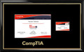 CompTIA® Certificate Frame Black with Black Mat & Card