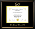 Six Sigma Yellow Belt Certificate Frame Black with Black Mat