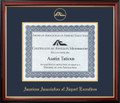 AAAE Certificate Frame Mahogany with Navy Mat