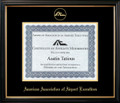 AAAE Certificate Frame Black with Black Mat
